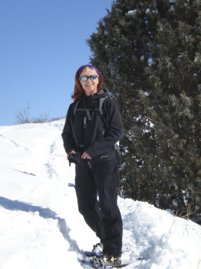 just...b snowshoeing along Mt Falcon trail, Morrison Colorado.