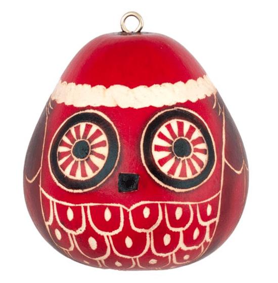 mini-owl gourd ornament - be a conscious shopper - buy fair trade.