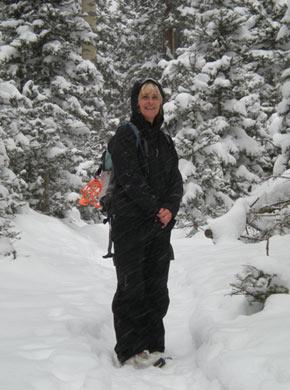 just...b snowy hike in Taos, NM on Winter Solstice